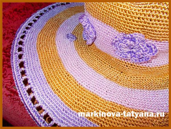 летняя женская шляпа с полями