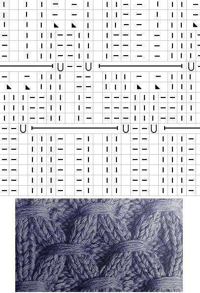 узор вафли спицами схема
